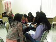 Formación con jóvenes del Centro Social, en el mes de febrero