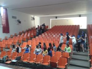 Llegada al auditorio, donde se dio la primera parte del tema