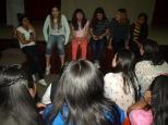 Compartiendo temas, de la mujer y la solidaridad, jóvenes de casa