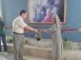 Inauguración de la Semana Cultural de Santa Vicenta María. Nos acompaño nuestro Capellán el Pbr. David González