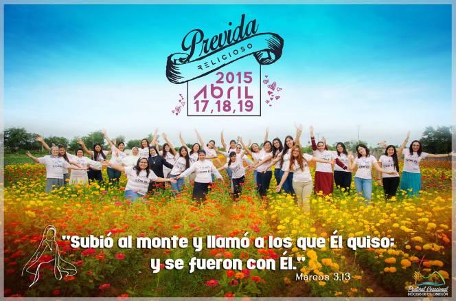 Los días 17,18,19 de Abril la P. Vocacional Diocesana organizó un Pre Vida para Jóvenes mujeres, muy bonita respuesta de parte de las muchachas que participaron ella con mucho interés  ,