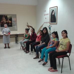Participantes: concurso de cuestionario de la vida de la Santa