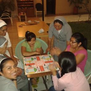 Recreo con juegos de mesa