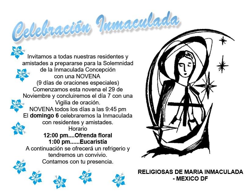 Invitacion Inmaculada