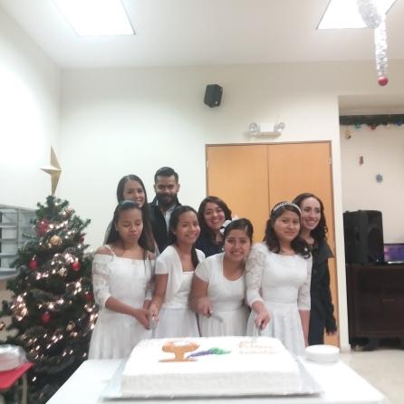 De izquierda a derecha: Tania, Natalia, Rosita y Belarmina.